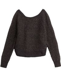 Juicy Couture Oversize Knit Pullover - Lyst