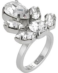Mews London - Crystal Crest Ring - Lyst