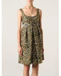 Dolce & Gabbana Jacquard Babydoll Dress - Lyst