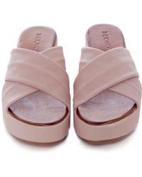 Inuovo - Slider Wedge Sandals - Lyst