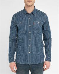 Levi's | Blue Workshirt Patterned Pr Shirt | Lyst