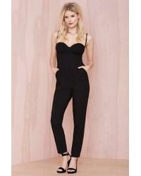 Nasty Gal Pitch Dark Sweetheart Jumpsuit - Lyst