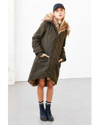 Members Only - Faux Fur-lined Hooded Parka - Lyst