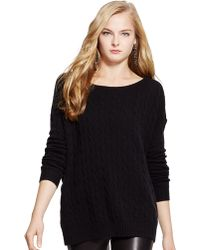 Polo Ralph Lauren Oversized Cable Knit Sweater - Lyst