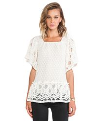 Anna Sui Ophelia Lace Top - Lyst