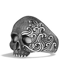 David Yurman Waves Large Skull Ring - Lyst