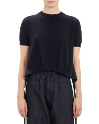 Marni Silk-Back Cropped Sweater - Lyst