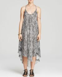 Free People Slip Dress - Printed Go To Gauze Knot For You - Lyst