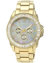 Vince Camuto Womens Goldtone Stainless Steel Bracelet Watch 43mm Vc - Lyst