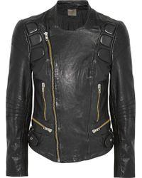 Muubaa Volta Leather Biker Jacket - Lyst
