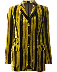 Jean Paul Gaultier Striped Velvet Jacket - Lyst