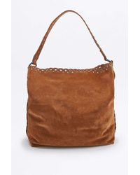 Vanessa Bruno Athé - Caramel Suede Etoile Hobo Bag - Lyst