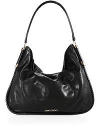 Jimmy Choo Zoe Leather & Snakeskin Shoulder Bag - Lyst
