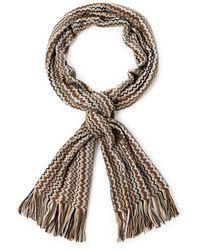 Missoni Multiple Zigzag Knit Scarf - Lyst