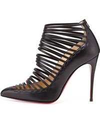 Christian Louboutin Gortik Strappy Red-sole Bootie - Lyst