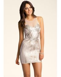 Bebe Sequin Embellished Dress - Lyst