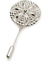 Alice Made This Marmaduke Silver Lapel Pin - Lyst