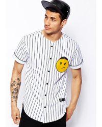 Criminal Damage - Baseball Shirt with Grumpy Face - Lyst