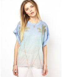 Wildfox Boyfriend Tshirt with Palm Tree Print - Lyst
