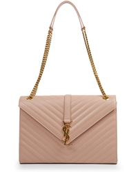 Saint Laurent Monogramme Envelope Leather Bag - Lyst