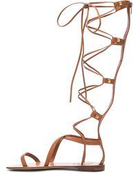 Valentino Rockstud Leather Gladiator Sandals - Lyst