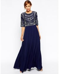 Asos Embellished Armour Maxi Dress - Lyst