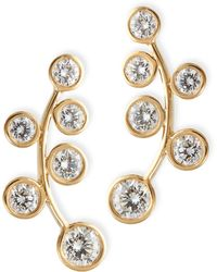 Rina Limor - 18k Yellow Gold & Diamond Climber Earrings - Lyst