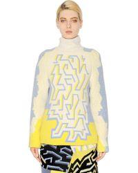 Peter Pilotto Wool Blend Ottoman Jacquard Sweater - Lyst