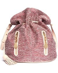 See By Chloé Cherry Tweed Bucket Bag - Lyst
