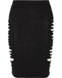 McQ by Alexander McQueen Cutout Stretch Jersey Skirt - Lyst