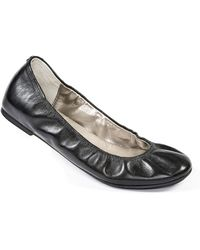Me Too Travis Leather Flats - Lyst