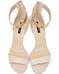 Patrizia Pepe - Light Silky Rose High Sandal in Suede with Leather Ankle Strap - Lyst
