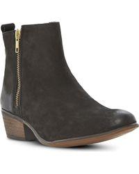 Steve Madden Neovista Leather Ankle Boots Black - Lyst