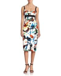 Milly Expressionist Print Dress - Lyst
