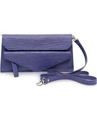 Francesco Biasia - Kenton Leather Clutch W/shoulder Strap - Lyst