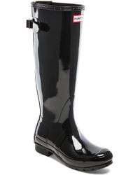 Hunter Original Back Adjustable Gloss Rain Boot - Lyst