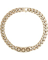 Balenciaga Studded Id Plate Necklace gold - Lyst