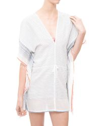 Lemlem Biftu Flutter Cover Up gray - Lyst