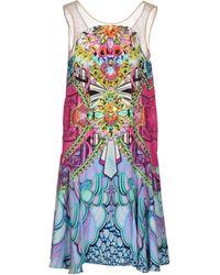 Manish Arora Knee-Length Dress purple - Lyst