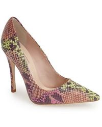 Topshop 'Gallop' Patent Pointy Toe Pump - Lyst