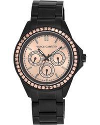 Vince Camuto - Women'S Black-Tone Stainless Steel Bracelet Watch 42Mm Vc/5087Rgbk - Lyst