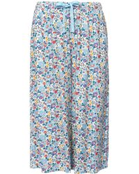 Uniqlo - Betsy Blue Printed Relaco 3/4 Shorts - Lyst