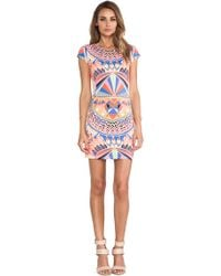 Mara Hoffman Cap Sleeve Mini Dress - Lyst