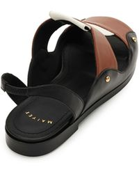 Maiyet - Leather And Canvas Slingback Sandals - Lyst