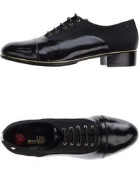 Love Moschino Lace-Up Shoes - Lyst