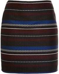 Suno Woven Striped Mini Skirt - Lyst