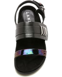 L.A.M.B. - Bradyn Sandals - Black - Lyst