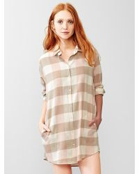 Gap Brushed Cotton Nightshirt - Lyst