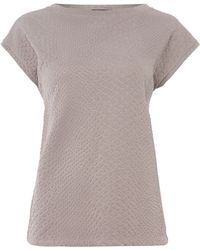Pied A Terre Textured Referee Tee - Lyst