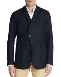 Giorgio Armani Regular-Fit Three-Pocket Shawl Lapel Blazer - Lyst